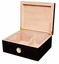 Black Walnut Rembrandt Desktop Cedar Cigar Humidor Box Holds 50 Cigars - 1081