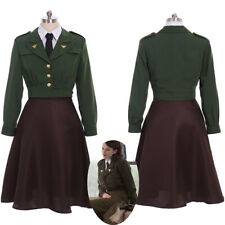 Captain America Peggy Carter Costume Cosplay Uniform Suit Women's Outfit