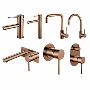 Quality  Modern Rose Gold Mixer for Basin / Sink / Wall Kitchen Bathroom
