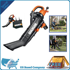 Worx Trivac Collection 3-in-1 Blower/Mulcher/Yard Vacuum Instant One-switch New