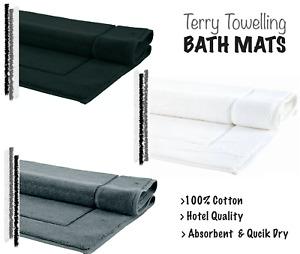 HOTEL QUALITY BATH MAT 100% COTTON MODERN BATHROOM TOWEL RUG BATH MATT 50 x 80CM