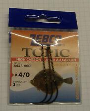ZEBCO Topic Ganci # 4/0 pacchetto di 3 per la Passera di mare, ad alto tenore di carbonio. le spese di spedizione gratuite.