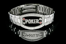 Poker Bracelet Silver Elite - Dark Silver Faceplate NEW for Tournament Winners
