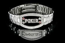 Poker Bracelet Silver Elite - Dark Silver Faceplate NEW for Tournament Winners
