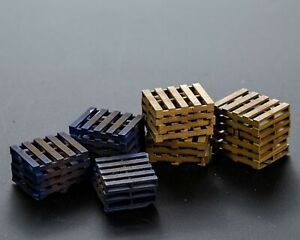 OO/1:76/4mm Resin Euro Style Pallets Stacks (x10)