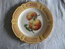 Rare plat décoratif en faïence de Choisy Le Roi décor Mariotte 1908 pêches