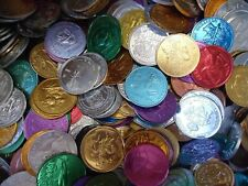 Mardi Gras Box of Vintage & Current Colorful Assorted Aluminum Doubloons Rex