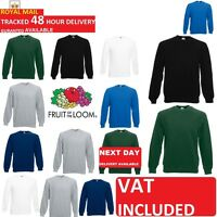 Fruit of the Loom Mens Raglan Sweatshirt Sweater Jumper