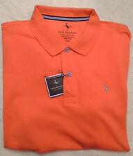 Tailorbyrd Stretch Cotton Blend Orange Polo Shirt NWT Large $69.50