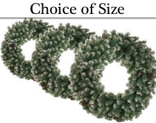 Commercial Artificial Frosted Pine Wreath to Decorate - Choice of Sizes