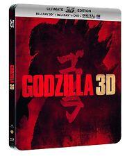Godzilla (3D Blu-ray+Blu-ray+DVD) Limited Edition Steelbook-Region Free New!