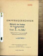 VEB Funkwerk Erfurt Catalogo tubi a destinatari TUBI DDR 1956