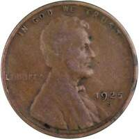 1925 S Lincoln Wheat Cent VG Very Good Bronze Penny 1c Coin Collectible