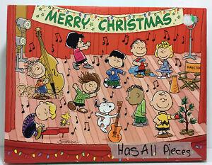Springbok Hallmark A Peanuts Christmas Jigsaw Puzzle 500Pc Complete Dance Scene