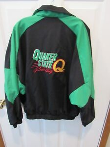 Quaker State NASCAR Racing Jacket Made USA Size adult Large Stock Car Race Team