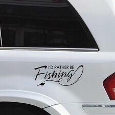 I'd Rather Be Fishing Vinyl Car Decal Sticker Boat Lake Salt Car Body Sticker