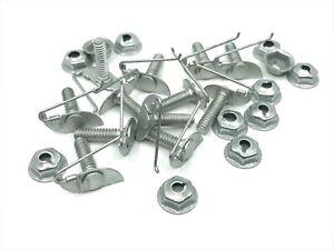 "12 pcs fits Ford door fender trim clips & nuts for 1/2"" - 5/8"" wide moulding"