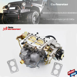 Carburetor For Jeep 2-Barrel BBd 6 Cyl 4.2L 258cu Engine Carb Type 8363 1806449