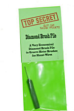Diamond brush shunt wire file
