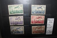 "FRANCIA FRANCE 1936 ""AIRPLANES"" P.A. TIMBRATI USED LOT (CAT.B)"