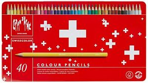 Caran d'Ache Matite Colorate SWISSCOLOR Acquerellabili Scatola 40 Pastelli