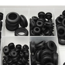 180Pcs Black Rubber Washer Seals Grommets Assortment Set Wiring Cable Gasket Kit