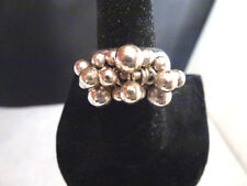 SILPADA  .925 Sterling Silver Cha Cha Bead Ring Ring