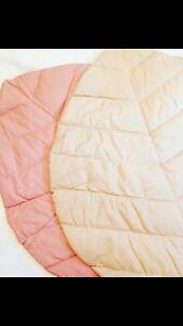 Children Kids Linen Leaf Mat Baby Crawling Rug BULK PACK