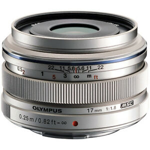 New OLYMPUS M.ZUIKO Digital 17mm f/1.8 Lens - SILVER