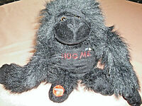 """Plush Garilla- Battery Operated by Playful Creations Black Musical  8"""" Tall"""