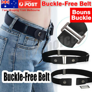Buckle free Elastic No Bulge Invisible Belt Jeans Hassle Womens