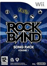 ROCK BAND SONG PACK 1 NINTENDO WII KIDS GAME EXCELLENT CONDITION