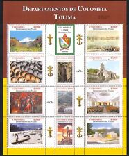 Colombia 2004 Regions/Waterfall/Church/Art/Boats/Nature/Buildings 12v sht n34913