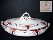 STANLEY POTTERY SWINDON OVAL SERVING BOWL WITH LID 1908