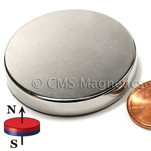 "Neodymium Magnets N42 Dia 1.5x1/4"" NdFeB Rare Earth Magnet Disk Lot 10"