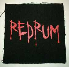 Redrum Silk Screened Canvas Patch Skate Punk Rock Shining Sew-on or Pin-on Rare