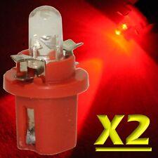 2 Pezzi LED T5 B8.5D ROSSO Lampade Lampadine Per Cruscotto e Quadro Strumenti