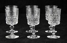 Serie de 6 verres à porto en cristal de Baccarat taille ecaille