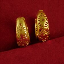 Wedding Traditional Goldplated Earring Women Bollywood Hoop Fashion Jewelry