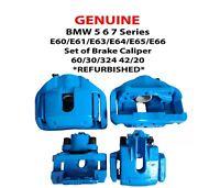 GENUINE BMW 5 6 7 Series E60/E63/E65 Set of Brake Caliper 60/30/324 42/20 REFURB