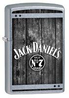 Zippo Lighter: Jack Daniel's Logo on Wood - Street Chrome 80070