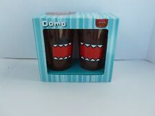 Domo ~Kun Japanese Animated Character ~16 oz Glass Set - NEW - SHIPPING INCLUDED