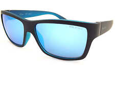 BLOC Sunglasses RISER Matte Black over Matte Opaque Blue / Blue Mirror XB1