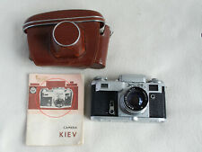 Vintage Russian Kiev 4 Rangefinder Camera With Case and Instructions