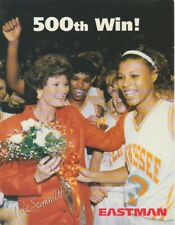 "Vtg 1993 PAT SUMMITT TENNESSEE LADY VOLS NCAA Basketball ""500th Win"" Promo Photo"