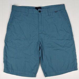 Hurley Blue Lightweight Shorts Size 33 Cotton