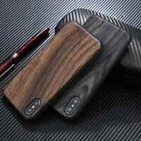 Retro Wood Grain Soft TPU Gel Phone Back Skin Case Cover for iPhone X 6S 7 Plus