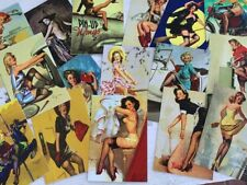 Pin Up Girls*Postcards*`16 Different Images*16 White Envelopes*Great Selection