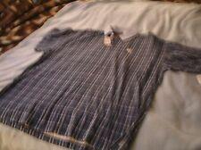 NWTs  TimberCreek by Wrangler blue&white plaid Men's size M polo shirt  code 98