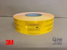 25m x55mm YELLOW AMBER Conspicuity Tape ECE104 Diamond Reflective 3M Truck Lorry